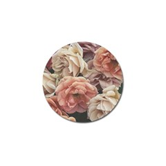 Great Garden Roses, Vintage Look  Golf Ball Marker