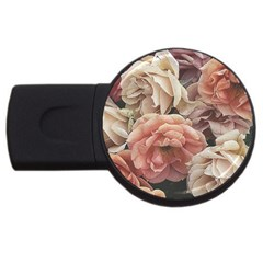 Great Garden Roses, Vintage Look  Usb Flash Drive Round (2 Gb)