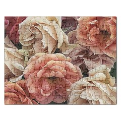 Great Garden Roses, Vintage Look  Rectangular Jigsaw Puzzl