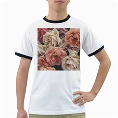 Great Garden Roses, Vintage Look  Ringer T Shirts