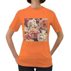 Great Garden Roses, Vintage Look  Women s Dark T Shirt