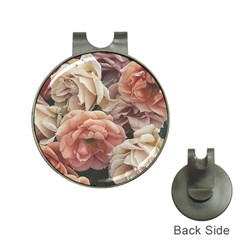Great Garden Roses, Vintage Look  Hat Clips With Golf Markers