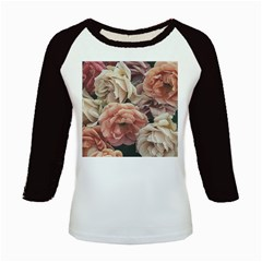 Great Garden Roses, Vintage Look  Kids Baseball Jerseys