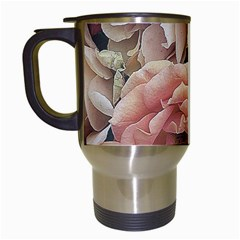 Great Garden Roses, Vintage Look  Travel Mugs (white)
