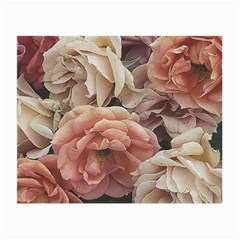 Great Garden Roses, Vintage Look  Small Glasses Cloth