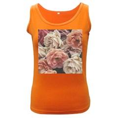 Great Garden Roses, Vintage Look  Women s Dark Tank Tops