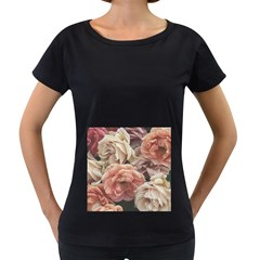 Great Garden Roses, Vintage Look  Women s Loose Fit T Shirt (black)
