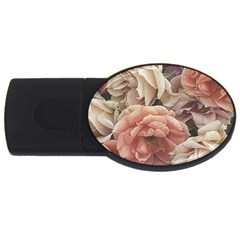 Great Garden Roses, Vintage Look  Usb Flash Drive Oval (4 Gb)