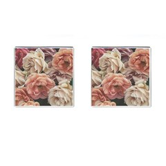 Great Garden Roses, Vintage Look  Cufflinks (square)