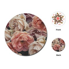 Great Garden Roses, Vintage Look  Playing Cards (round)
