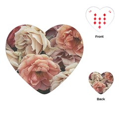 Great Garden Roses, Vintage Look  Playing Cards (Heart)