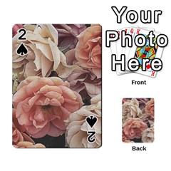 Great Garden Roses, Vintage Look  Playing Cards 54 Designs