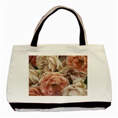Great Garden Roses, Vintage Look  Basic Tote Bag
