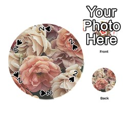 Great Garden Roses, Vintage Look  Playing Cards 54 (round)