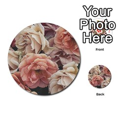 Great Garden Roses, Vintage Look  Multi Purpose Cards (round)