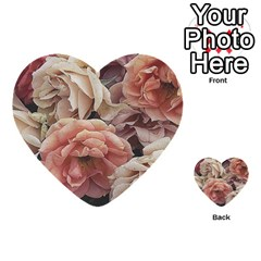 Great Garden Roses, Vintage Look  Multi-purpose Cards (Heart)
