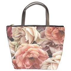 Great Garden Roses, Vintage Look  Bucket Bags