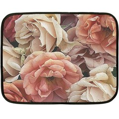 Great Garden Roses, Vintage Look  Fleece Blanket (Mini)