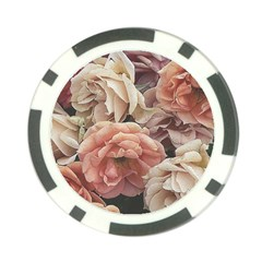 Great Garden Roses, Vintage Look  Poker Chip Card Guards (10 Pack)