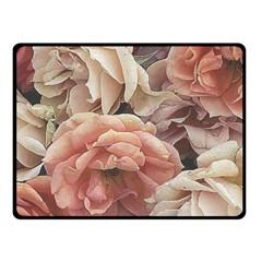 Great Garden Roses, Vintage Look  Fleece Blanket (Small)