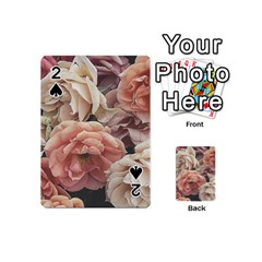 Great Garden Roses, Vintage Look  Playing Cards 54 (mini)