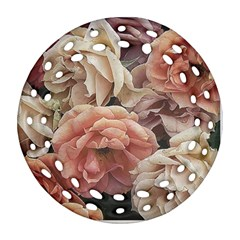 Great Garden Roses, Vintage Look  Round Filigree Ornament (2Side)