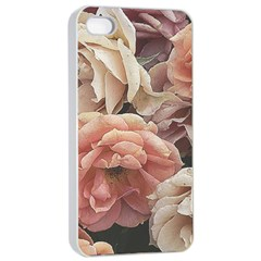 Great Garden Roses, Vintage Look  Apple iPhone 4/4s Seamless Case (White)
