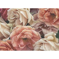 Great Garden Roses, Vintage Look  Birthday Cake 3D Greeting Card (7x5)