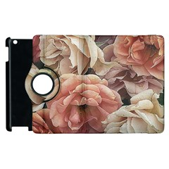 Great Garden Roses, Vintage Look  Apple Ipad 2 Flip 360 Case