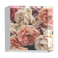 Great Garden Roses, Vintage Look  5  x 5  Acrylic Photo Blocks