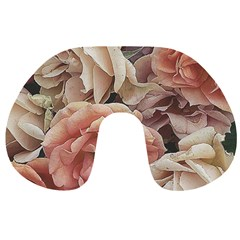 Great Garden Roses, Vintage Look  Travel Neck Pillows