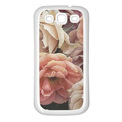 Great Garden Roses, Vintage Look  Samsung Galaxy S3 Back Case (white)