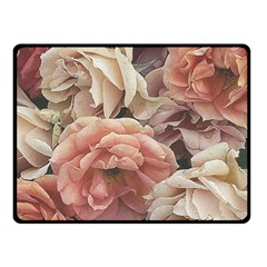 Great Garden Roses, Vintage Look  Double Sided Fleece Blanket (small)