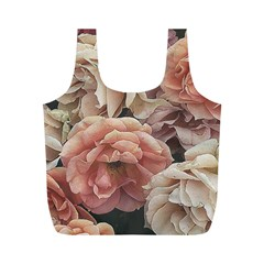 Great Garden Roses, Vintage Look  Full Print Recycle Bags (m)