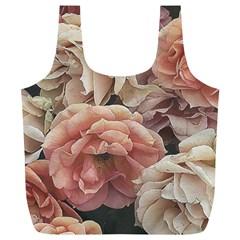 Great Garden Roses, Vintage Look  Full Print Recycle Bags (l)