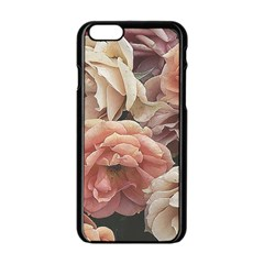 Great Garden Roses, Vintage Look  Apple Iphone 6 Black Enamel Case