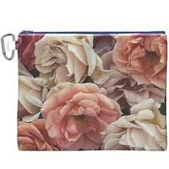 Great Garden Roses, Vintage Look  Canvas Cosmetic Bag (XXXL)