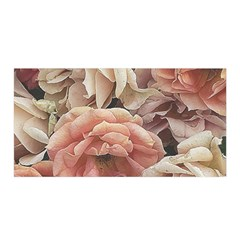 Great Garden Roses, Vintage Look  Satin Wrap