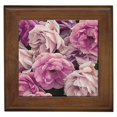 Great Garden Roses Pink Framed Tiles