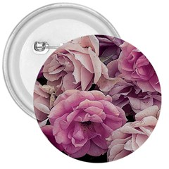 Great Garden Roses Pink 3  Buttons