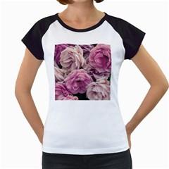 Great Garden Roses Pink Women s Cap Sleeve T