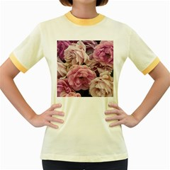 Great Garden Roses Pink Women s Fitted Ringer T Shirts