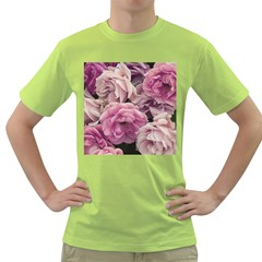 Great Garden Roses Pink Green T Shirt