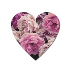 Great Garden Roses Pink Heart Magnet
