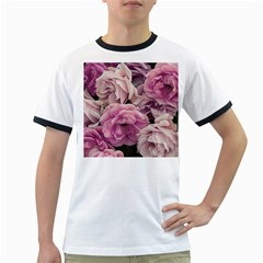 Great Garden Roses Pink Ringer T Shirts