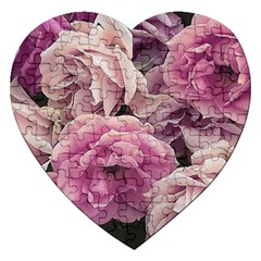 Great Garden Roses Pink Jigsaw Puzzle (heart)