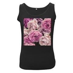 Great Garden Roses Pink Women s Black Tank Tops
