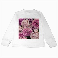 Great Garden Roses Pink Kids Long Sleeve T-Shirts