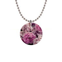 Great Garden Roses Pink Button Necklaces
