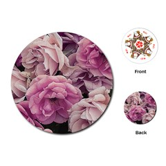 Great Garden Roses Pink Playing Cards (Round)